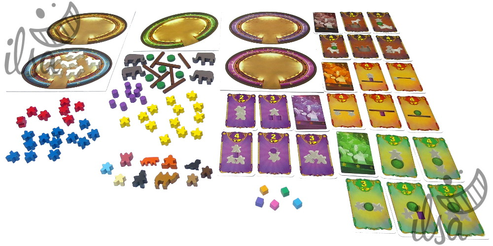 Meeple Circus carte e meeple
